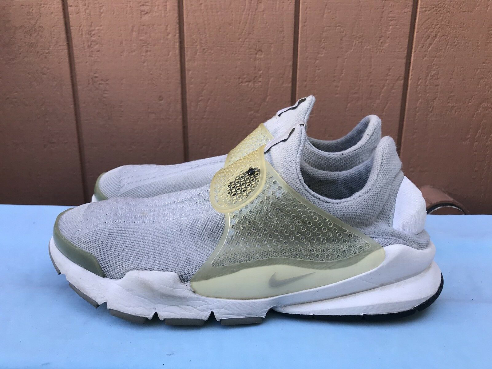 RARE! EUC Nike Sock Dart SP 686058 011 Men's Size US 12 Gray Running Shoes A6