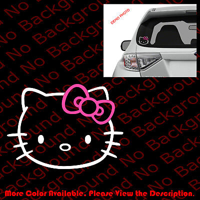 Wall Art Sticker Decal FUNNY CAR DECAL WINDOW//BODY!!!! HELLO KITTY UP YOUR/'S