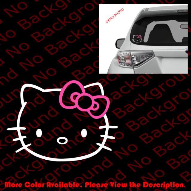 "Hello Kitty decal sticker 4/"" white car windows laptop"