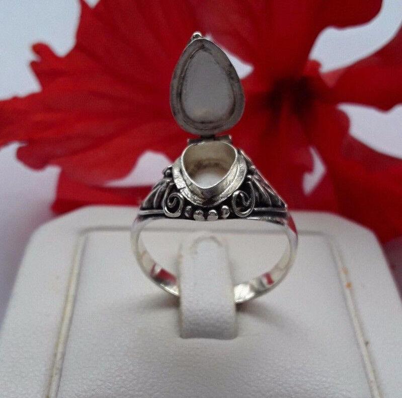 AGNES CREATIONS   BAGUE A SECRET OUVRANTE POISON silver 925 & CITRINE size 57