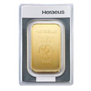 100 Gramm Goldbarren Heraeus Gold 999,9 Feingold Barren -15 Euro Rabatt ab 3 St.