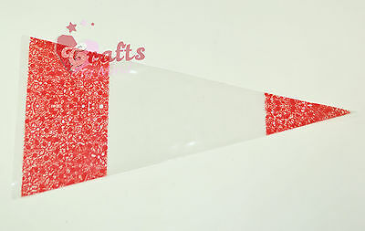 25 x Cello Cone Sweet Treat Display Favor Gift Party Bags | Clear | Colour