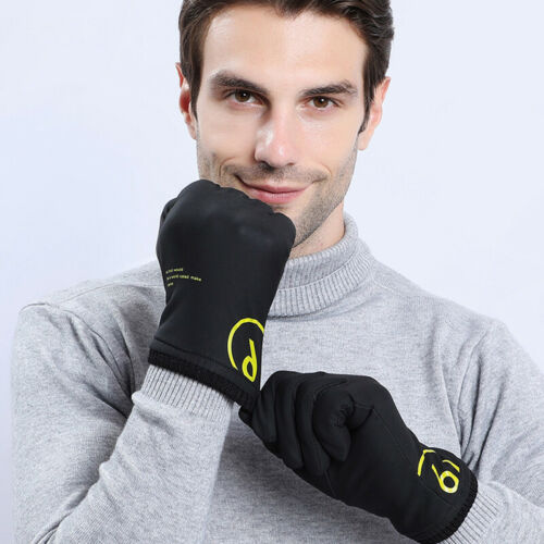 Winter Warm Gloves Windproof Softshell Outdoor Sports Thermal Driving Mittens