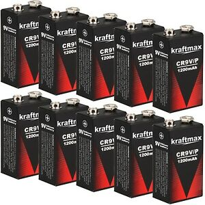 10x rauchmelder 9v lithium batterien f r feuermelder 9v block batterie 10 jahre ebay. Black Bedroom Furniture Sets. Home Design Ideas