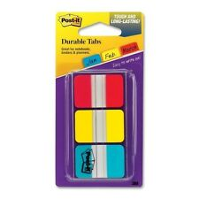 Post It Durable Index Tabs 1x15 3pk 36 Tabs Writable 3 Colors