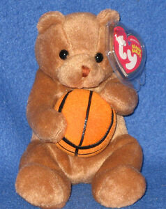 TY HOOPS the BEAR BEANIE BABY - MINT with MINT TAGS