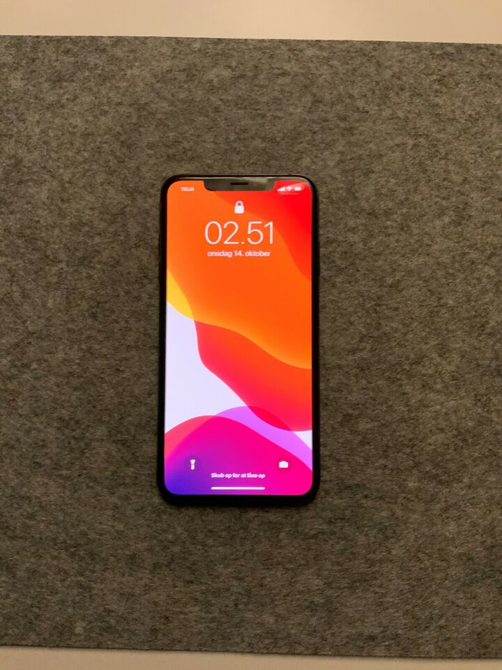 iPhone XS Max, 256 GB, sort