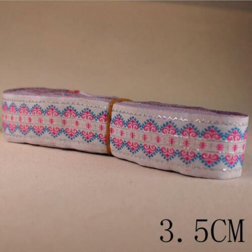 5//10 Yards Vintage Jacquard Ribbon Trim Woven Border Lace Grosgrain DIY Crafts