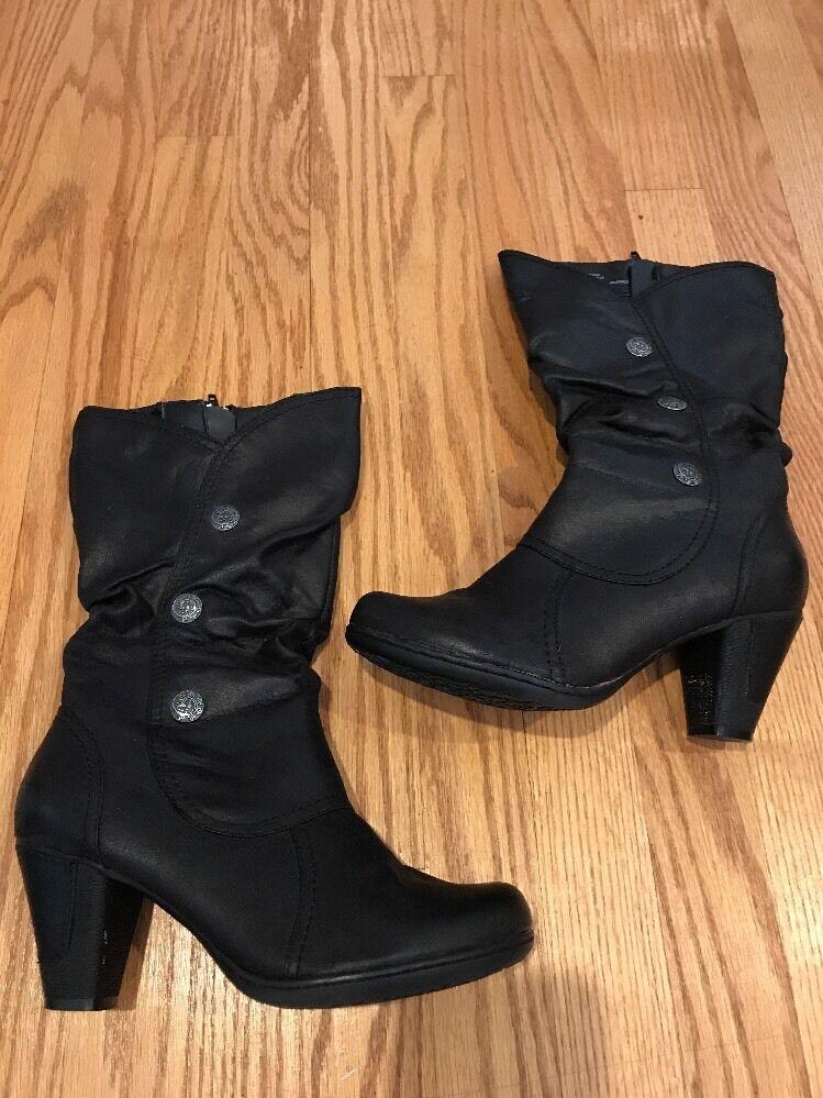 Bare Traps botón de plata negro tachonado Tacones Altos botas botas botas Zapatos para mujer talla 7.5    100% a estrenar con calidad original.