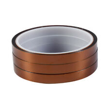 3 Rolls 33m100ftx10mm High Temperature Heat Resistant Kapton Polyimide Tape