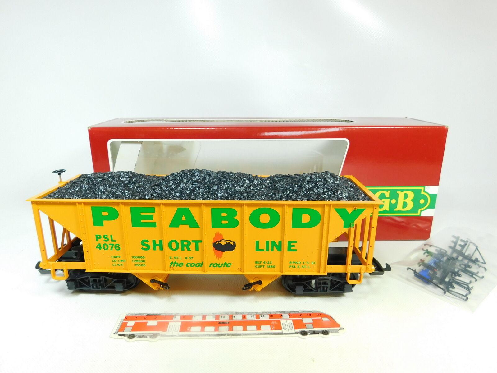 BR109-3 LGB Échélle G   Iim     Dc 4076 - X 01 Us-Hopper car Peabody Psl ,Neuf + f9fcea