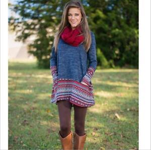 67a2b093 Hot Sale New Womens Winter Fall Europe Loose T-Shirt Skirts Sweater ...