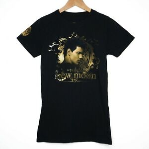 Twilight Saga New Moon Jacob Womens Black Short Sleeve T-Shirt Size Small
