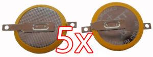 Heimwerker Sparen Sie 50-70% FäHig 5 X Cr2025 3v Batterie Mit Lötfahnen Knopfzelle Tabs Gameboy Spiele Pokemon Usw