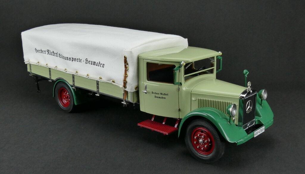 Cmc M170 MercedesBenz Lkw lo 2750 Camion con Telone Cover, 193438 1 18 Nuovo