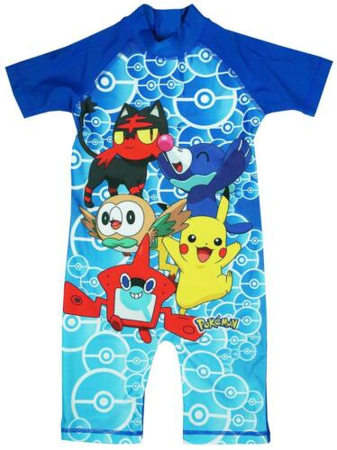Boys Pokemon Costume Sunsafe All in One Surf Swimsuit Sunsuit 1.5 to 5 Years
