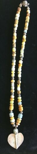 "16/"" Strand SILVER LEAF AGATE in Beautiful Shapes"