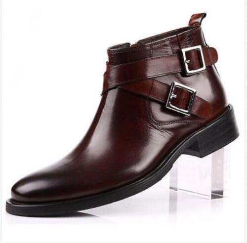 et marron de véritable pour Sz hommes en noir bottines cuir Nous Bottes en britanniques travail cuir a4wvqTq7