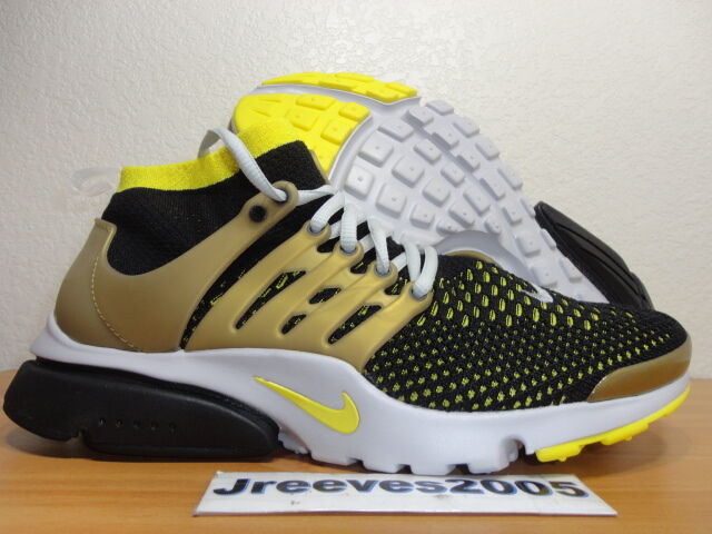 7ed19af6542d Nike Air Presto Flyknit Ultra Men Lifestyle Casual SNEAKERS Black Yellow 10  for sale online