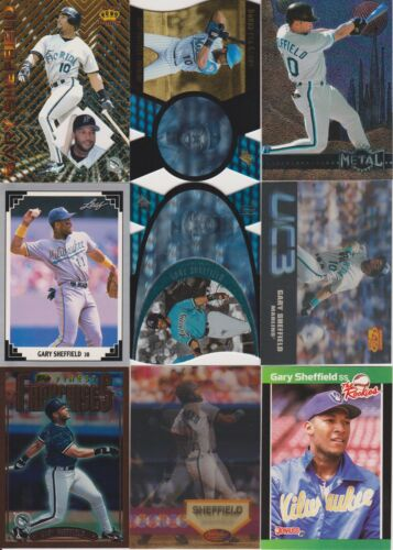 120 Different Card LOT GARY SHEFFIELD Marlins Brewers Inc Rookie Cards