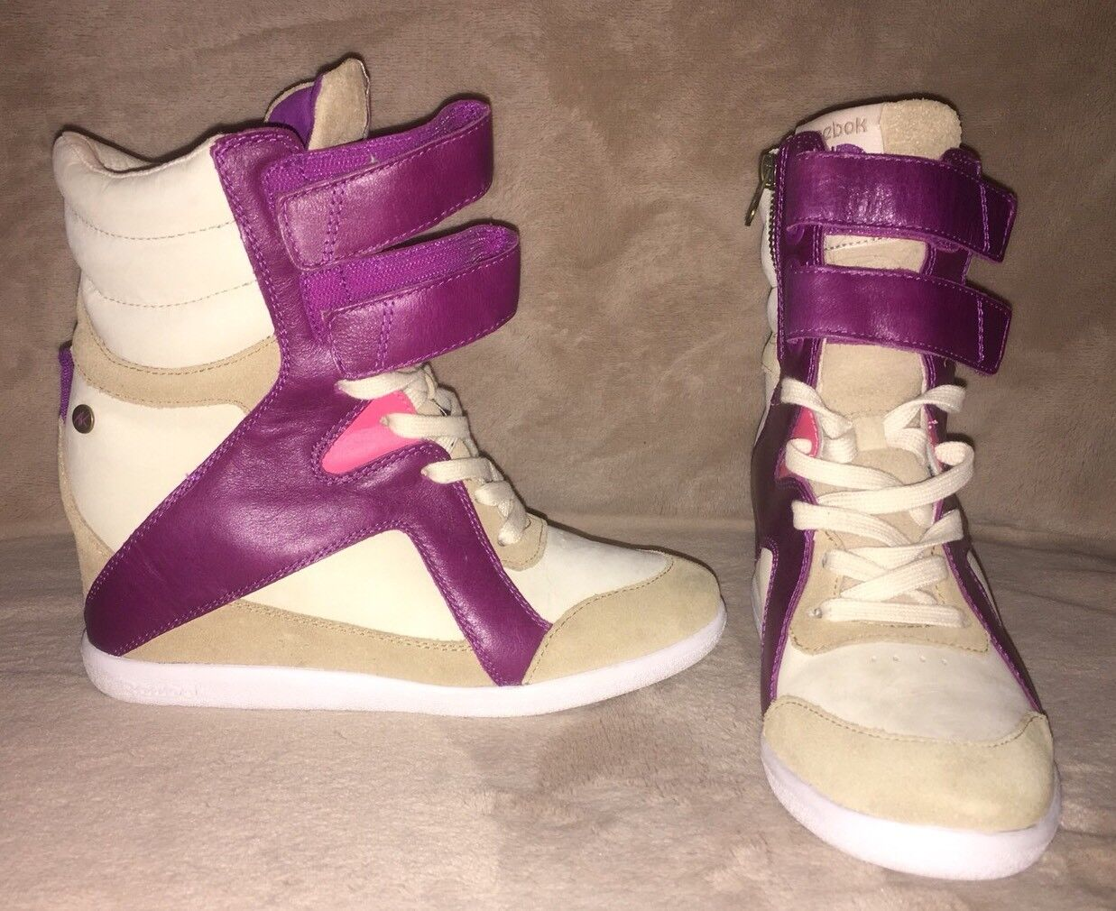 Reebok Alicia Keys Hidden Wedge Sneakers Sz 7