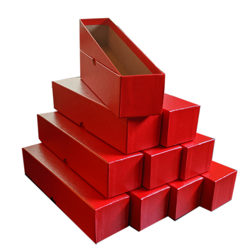 """2 X 2  Deluxe Storage Box 9/"""" Long; Single Row; Red with 100 Cent 2 X 2/'s 1"""