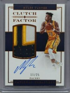 2016-17-National-Treasures-Myles-Turner-3-Color-Patch-On-Card-Auto-11-25