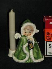 Goebel Porzellan Figur Robson Engel Angel mit Kerzenhalter 42-412 grün