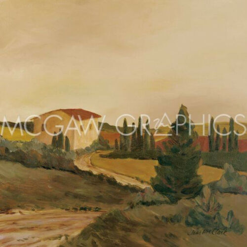 """1382 SUNNY TUSCAN FIELDS CLARK JEAN Offset Lithograph 12/"""" x 12/"""""""