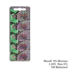 Maxell 371 SR920SW SR920 Silver Oxide Watch Batteries (50Pcs)