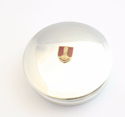 11TH Hussars Pewter Trinket Jewellery Pill Box Ladies Military Gift BKG18