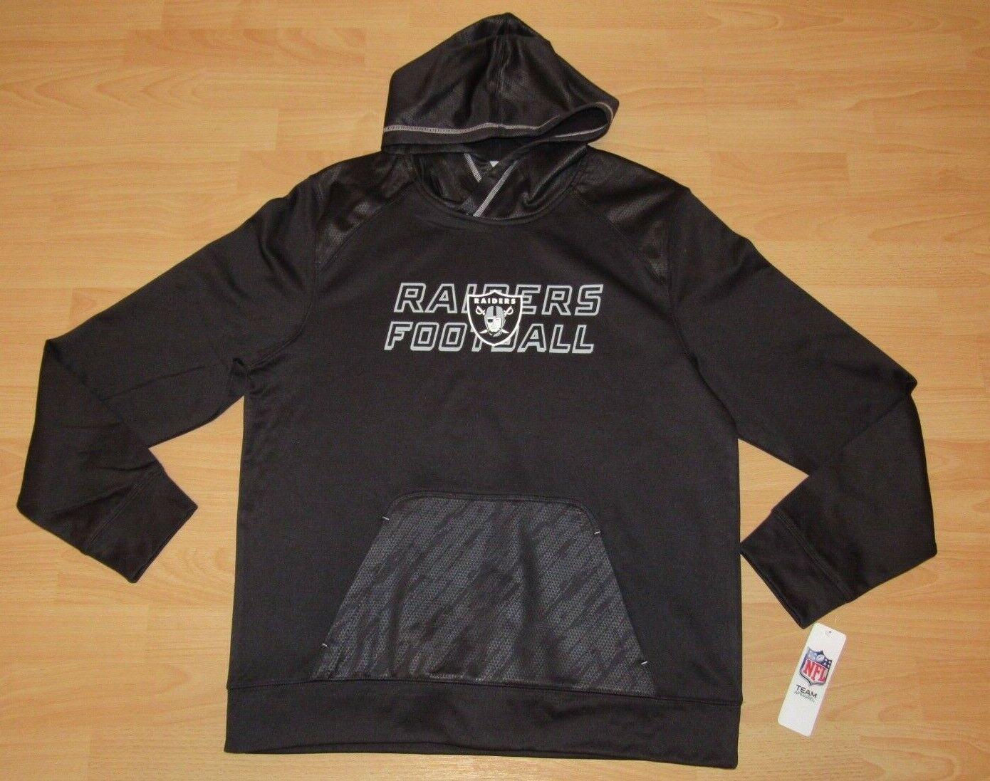 Oakland Raiders black NFL Equipo Therma Tx3 Abrigo Chaqueta con Capucha