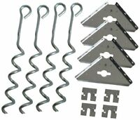 Arrow Shed Ak600 Earth Anchor Kit , New, Free Shipping