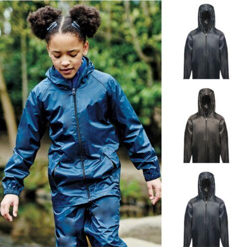 Regatta Pro Para Niños Kid/'s Stormbreak Chaqueta Impermeable-Con Capucha Negro O Azul Marino