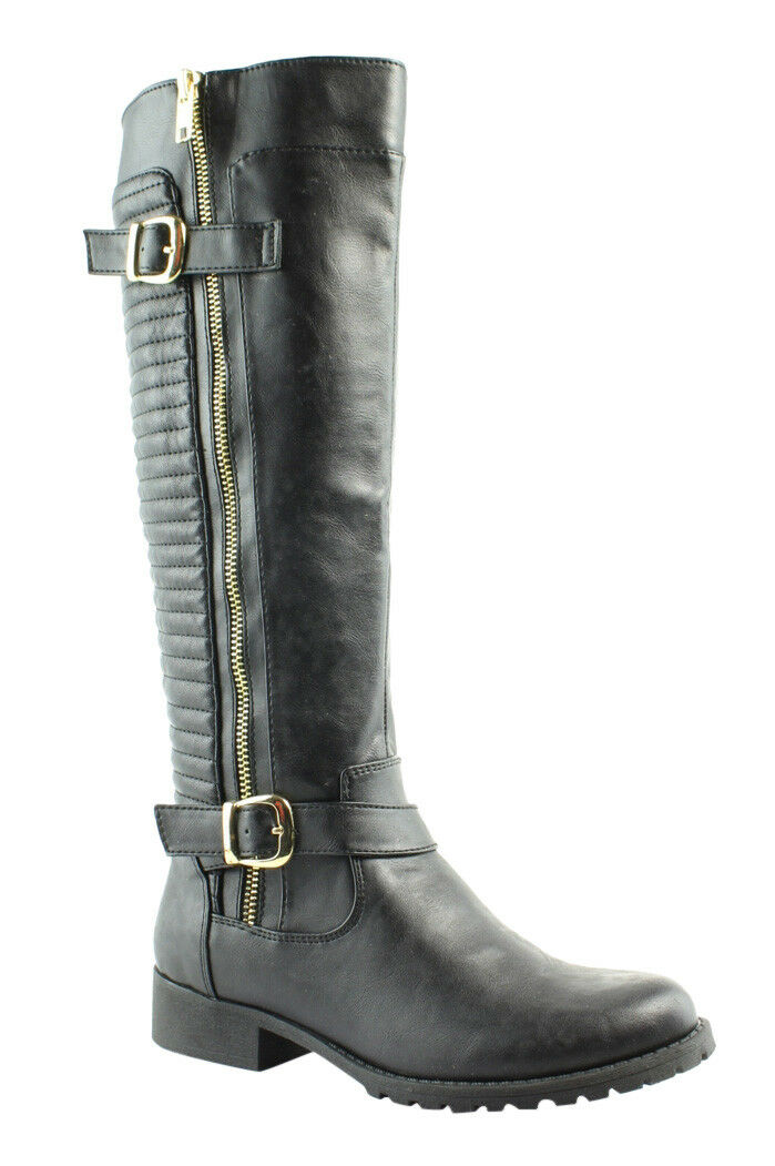 Steve Madden Womens Quincy Black Knee Boots Size 6 (211215)