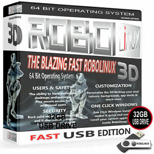 Robolinux-LXDE-16GB-USB-Stick-veloce-sistema-operativo-2019-sostituire-Windows-7