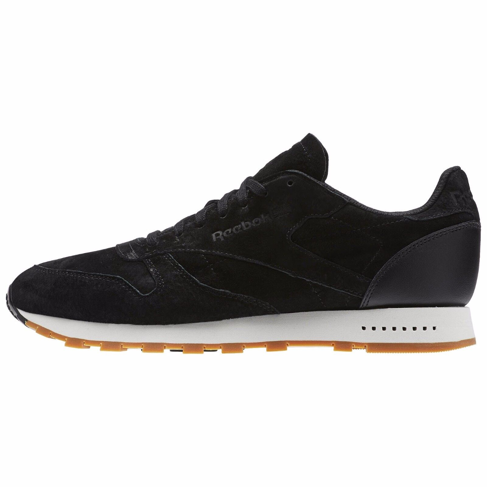 Reebok hommes CLASSIC LEATHER SUEDE GUM SOLE SG Chaussures noir BS7892 b