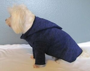 Navy-Knit-Hoodie-Sweater-Long-Sleeve-Dog-Puppy-Pet-Clothes-XXXS-Large