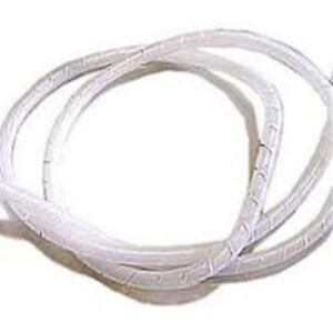 Guaina a Spirale Avvolgicavo Bianca Diametro 4mm Lunghezza 2m Spiral Wrapping