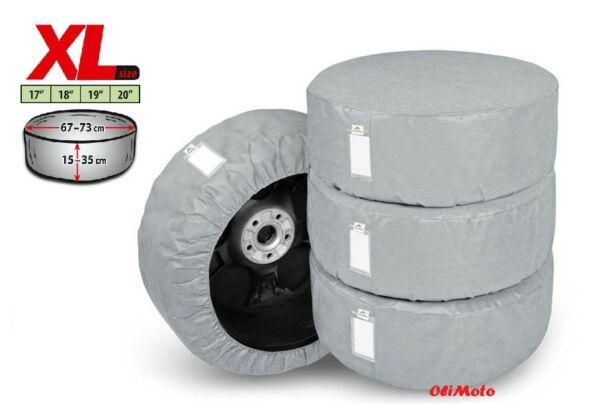 """Set Of 4 Protective Covers For Spare Wheels And Tyres 19"""" 20"""""""