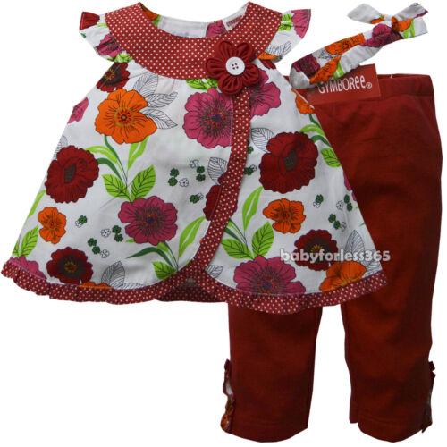 NWT Gymboree Baby Girls Shirt legging /& Matching Headband Size 3 6 9 months