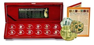 The-Biblical-Holy-Land-JUDEA-12-Coin-Collection-From-The-Time-Of-Jesus-Boxed