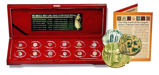 JUDEA 12 Coin Collection From The Time Of Jesus,Boxed The Biblical Holy Land