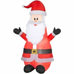 Gemmy-Inflatable-6-99Ft-Airblown-Santa-Outdoor-Christmas-Decor-w-LED-White-Light