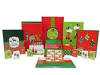 44 Piece - Christmas Gift Box Set W/ Gift Boxes, Tags, Stickers, & Tissue Paper