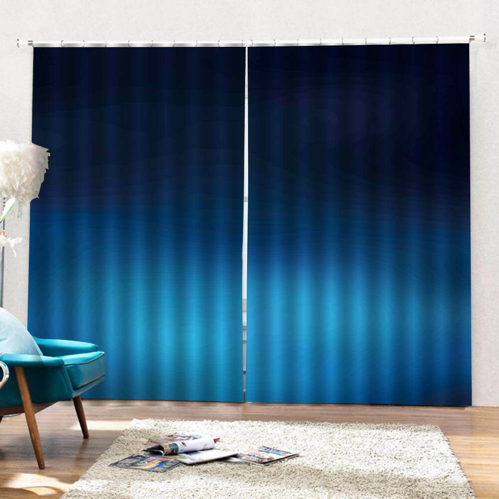 Gradient Fantasy Blau 3D Curtain Blockout Photo Printing Curtains Drape Fabric