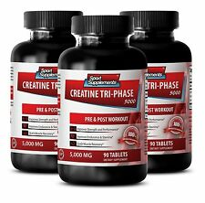 Muscle Gain - Creatine Tri-Phase 5000mg - Boost Work Capacity & Training Tabs 3B