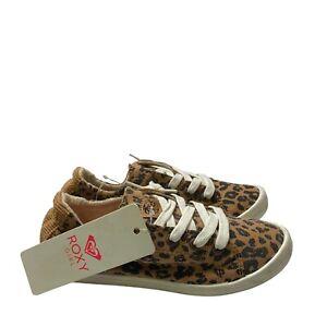 Roxy Leopard Girl Slip On Shoes Size 3