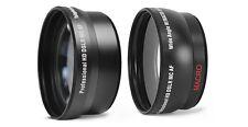 2pc Lens Kit HD Wide Angle & Telephoto Lens Set For Panasonic 14-150mm LENS