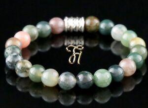 Indien-Achat-Armband-Bracelet-Perlenarmband-Buddha-8mm